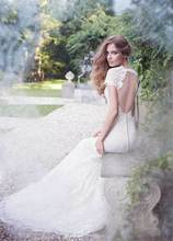 The Wedding Bride Dresses Romantic Free Shipping New Style Special Backless Beautiful Mermaid Lace Dress Bridal Gown Custom Made