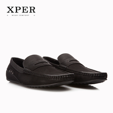 XPER Brand Fashion Soft Artificial Leather Breathable Men's Flats Shoes Slip-on Mocassins Men Loafers Black Big Size CE86811BL