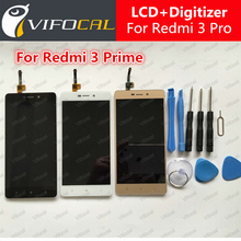 For Xiaomi Redmi 3 Pro LCD Display + Touch Screen 100% New Digitizer Assembly Replacement Accessories For Redmi3 Prime Phone