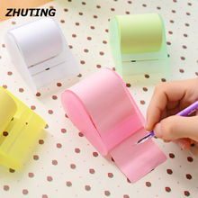 Convenience Multi-Color Pad Roll Sticky Note Memo Pad With Tape Holder  Student Office Supplies
