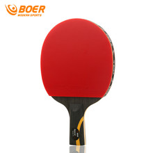 BOER Professional Game Ping Pong Racket Table Tennis Racket Long/Short Grip Durable With 3 Balls Ping Pong Paddle Racket
