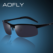 AOFLY Brand Design Men's Aluminum Magnesium Sun Glasses HD Polarized UV400 Sun Glasses oculos Male Eyewear Sunglasses For Men