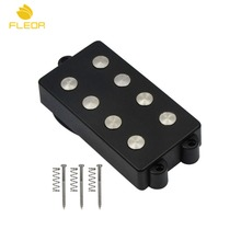FLEOR Open 4 String Guitar Bass Pickup Double Coil Humbucker Pickup Ceramic Magnet 4 Wires for Music Man Style Bass Parts(China)