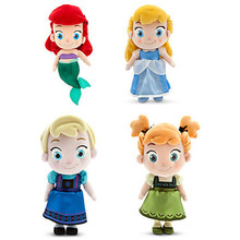 2016 New Toddler Ariel Cinderella Plush Mermail Snow Baby Little Mermaid Plush Toys Doll Queen Princess Kids Gift 30cm