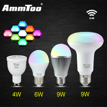 Milight Led Light Bulb GU10 E27 Par30 4W 6W 9W Led Lamp 85-265V Dimmable Mi Light Lampada Led RF Remote Wifi APP Control Bulbs
