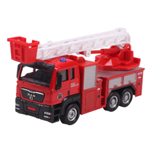 Model toys Aerial ladder fire truck engineering van kids dream high quality hot sale EXTREMELY creative novelty