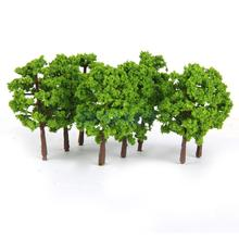 New Arrivals 2015 Plastic Model Tress Train Railroad Scenery 1:150 20pcs Light Green Free Shipping