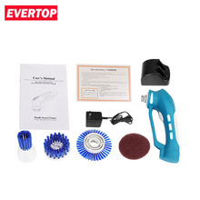 EVERTOP Electric Handheld Cleaner Kitchen Multi-function Rotating Cleaning Machine Power Scrubber Replaceable Brush Head(China)