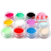 12 Colors Nail Acrylic Powder Liquid Diy Colourful Dust Set For 3d Art Mold carving powder Manicure Tips Nail Art 3D Decoratio(China)