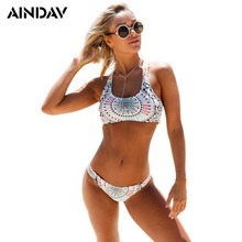 Brand White Cropped Bikini Set Swimming Suit for Women Sexy Push Up Swimwear Swimsuit Metallic Bathing Suit Brazilian Biquini(China)