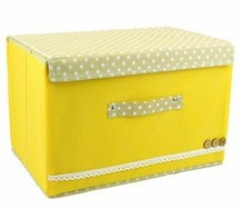 Pastoral cloth factory outlets buckle clothes storage box large(China)