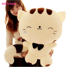 80CM Include Tail Cute Large Size Cat Plush Stuffed Toys Pillow Birthday Gift Cushion Fortune Cat Doll Pusheen Kawaii Plush Toys