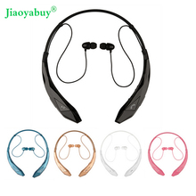 Jiaoyabuy Bluetooth Headset Wireless Sports stereo headphone bluetooth earphone Support microphone handsfree calls for LG Iphone