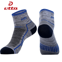 ETTO Quality Men Cotton Running Cycling Socks Men Comfortable Breathable Soccer Basketball Socks Sports Athletic Sox HEQ116(China)