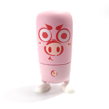 Glass termos Thermoses 310ml Children Women Gift Cup Cartoon Animals Zoo Sculpt Pink Pig Bottle for Child Christmas Gift(China)