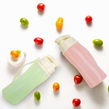 Large Capacity Nozzle Silicone Collapsible Water Bottles With Cover Lip Filter BPA Free Sport Bicycle Water Bottles