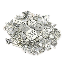 20pcs/lot Mixed Tibetan Silver Plated Heart Angel Charms Pendants Jewelry Making Findings Diy Handmade Accessories