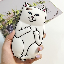 Original Popular 3D Cartoon Lovely Pocket Cat soft Rubber Silicone boy girl phone case for iPhone 5 5S 5G SE 6G 6Plus 7G 7 Plus