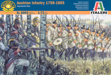 6093 Austrian Infantry 1798 -1805 Napoleonic Wars Italeri 1:72 model kit