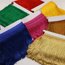 10yard/lot 15CM Long Polyester Tassel Fringe Trim African Lace Ribbon DIY accessory Sew Latin Dress Garment Accessories Curtain