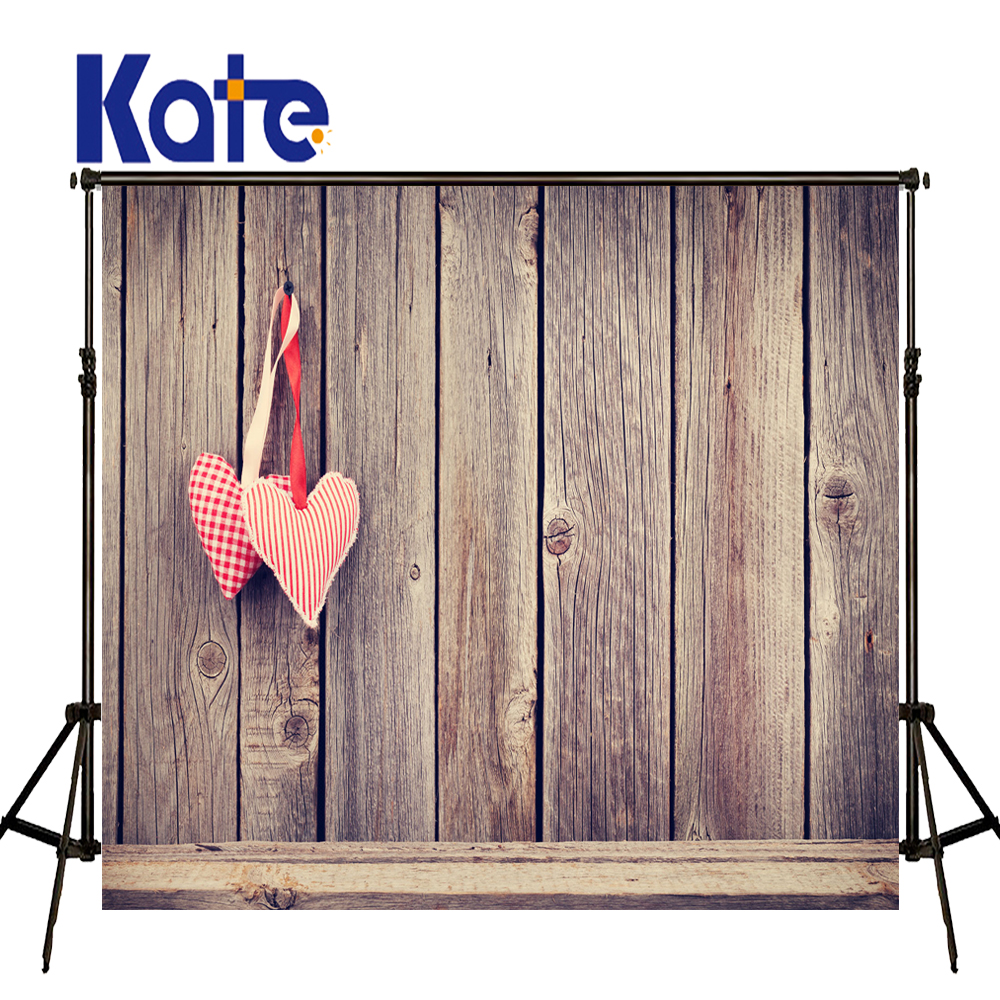 KATE 5x7ft ValentineS Day Backdrop Photography Background Wood Wall Backdrops Newborn Photography Background for Photo Studio<br>
