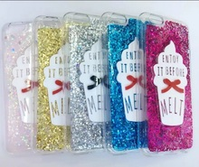 20% off buy 2pcs,Colorful Ice Cream Bling Sparkling Glitter Soft TPU Gel Back Shell Case Cover For iPhone 6 6Plus(China)