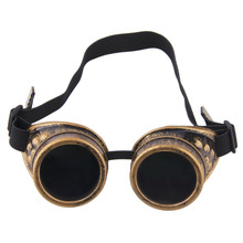Cyber Goggles Steampunk Glasses Vintage Retro Welding Punk Gothic Sunglasses 2017 Fashion Retro Steampunk Cyber Goggles Glasses(China)