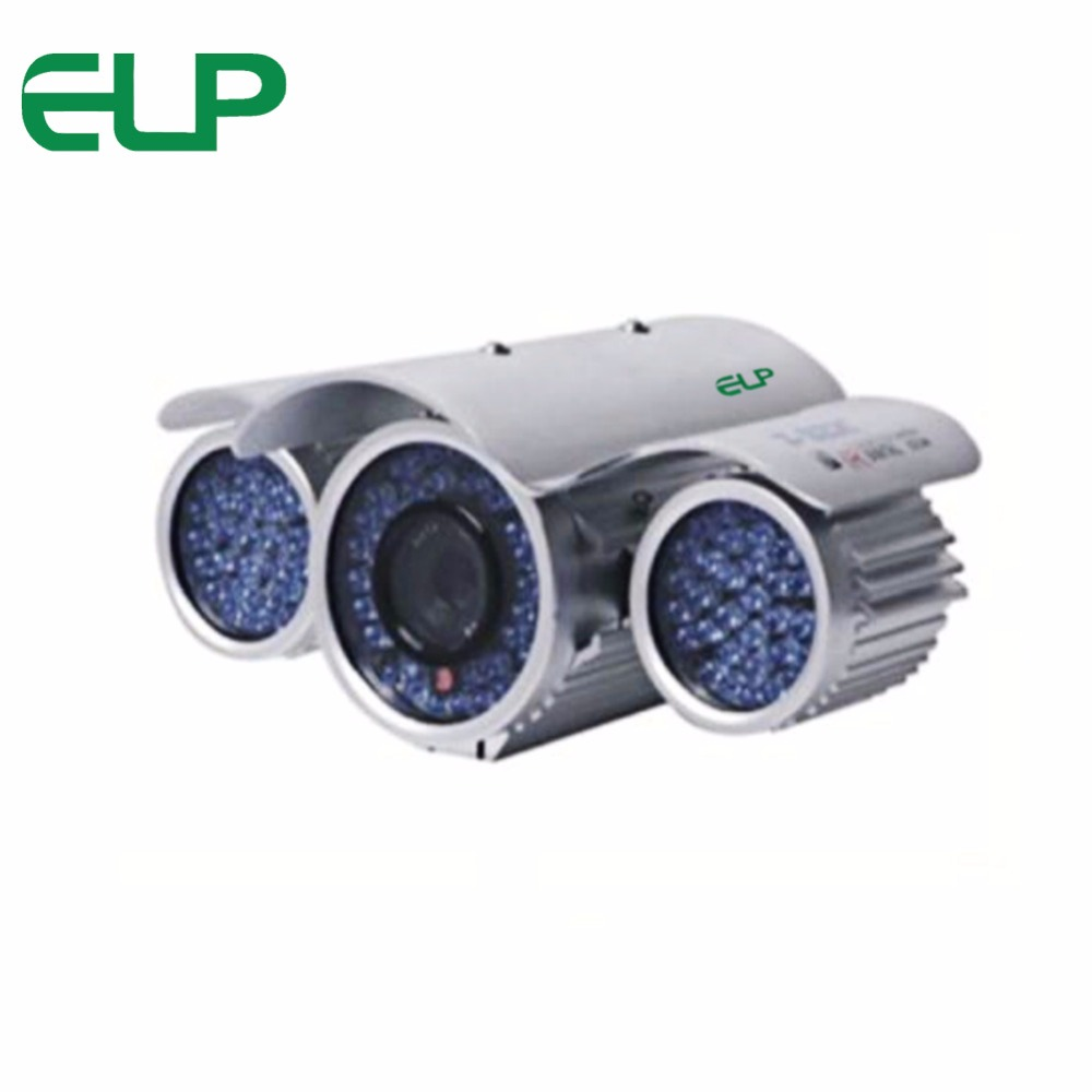 New Waterproof Cmos1200TVL Plane Style Stanalog Camera IR Led Day&amp;Night Metal Bullet analog cctv Camera ELP-3120N<br>