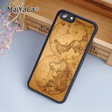 MaiYaCa old world antique map fashion soft mobile cell Phone Case Cover For iPhone 5 5S SE Custom DIY cases luxury shell(China)