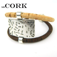 From Europe Portugal Pulseras Cork jewelry bracelets, soft natural wood color fashion bracelet, Portugal specialty 18cm BR-210(Portugal)