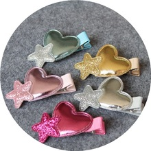 Creative Shining Stars Heart-Shaped Fashion Kids Hair Clips Girls Accessories Baby Hairpins Princess Barrette Children Headwear(China)