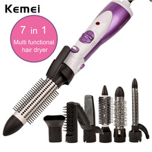 7 in 1 Multifunctional Professional 220-240V Styling Electric Hair Dryer Hairdryer Set 1000W Volume Styler Hair Brush Comb 5149(China)