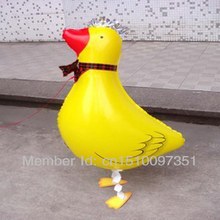 10pcs/Lot, Free Shipping, Duck Pet Walking Animals Balloons  Helium Mylar Balloons, Baby's toy, Party Decoration. Gift.