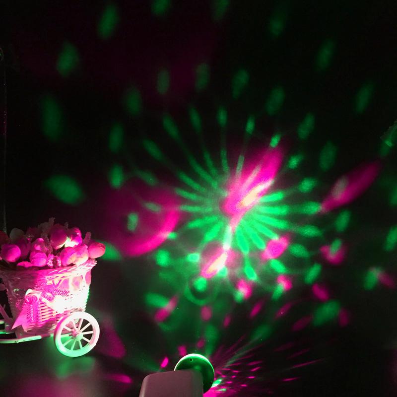 Led Lamp USB Mini Magic Stage Light DC 5V Portable RGB LED Neon Light Crystal Rotating Ball Color Change With Music Rhythm (15)