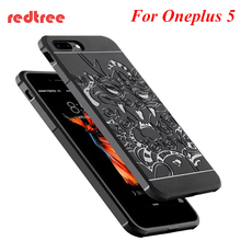 Oneplus 5 case Luxury Hybrid Blade Plating dragon frosted one plus 5 Protective back cover for oneplus 5 phone shell cases(China)