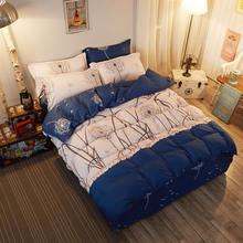 2017 New Bedding Sets Blue Dandelion  Soft Bed Sheets Quilt / Duvet Cover Sets Pillowcase King Queen Full Twin