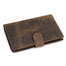 High Quality 2013 Cattle  crazy horse leather handmade wallet male personality vintage cowhide medium-long wallet 4024