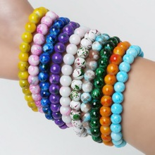 Hot Selling Women Fashion Handmade Glass Beads Stretch/Elastic Spacer Loose Beads For Necklace Bracelet Charms Jewelry Making
