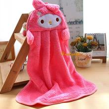 Comfortable Fabric Wipe Hand Hanging Towel Child Bay Kids Cartoon Towel