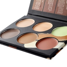 6 Colors  Natural Professional Concealer Palette 3in1 makeup Foundation Facial Face Cream Palettes Cosmetic