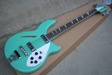 Factory Custom Green Electric Bass Guitar with 4 Strings,White Pickguard,Rosewood Fingerboard,Offer Customized(China)