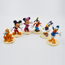 Disney Toys 6pcs/Set 7-9cm Anime Mickey Mouse Minnie Mouse Donald Duck Pvc Action Figure Toys Kid'S Gift Dolls For Children