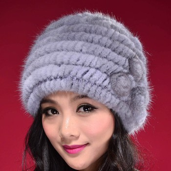 2015 New Hand Made Queen Style 100% Real Mink Fur Knitted Hat Womens Winter Fur Hat and Cap Free Shipping JN005Одежда и ак�е��уары<br><br><br>Aliexpress