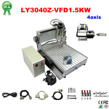 Assembled&Test well 3D CNC machine 3040 CNC Router cnc engraving machine 1500w spindle drilling lathe, free tax to EU