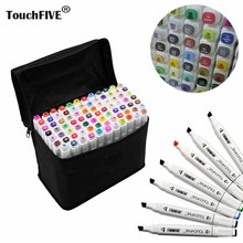 Touchfive Painting Art Mark Pen Alcohol Marker Pen Cartoon Graffiti Sketch Markers touch twin Drawing manga art supplies(China)