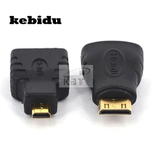 kebidu Discount Mini HDMI + Micro HDMI Gold-Plating HD Converter Adapter for Xbox 360 for PS3 HDTV for HTC Evo 4G Mobile Cable(China)
