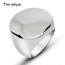 Titanium Stainless Steel Men Ring Punk Rock Cool Casual Sporty Big Silver Motorcycle Rings Jewelry Male