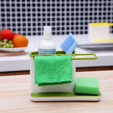 1pcs Plastic Multifunction Racks Kitchen Sink Utensils Holders Organizer Caddy Storage Holder Blue Green 2 Colors