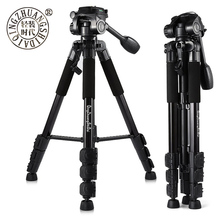 QZSD Q111 Professional Portable Aluminum alloy Camera Tripod with Q08 Rocker Arm Ball Head for Canon Nikon Sony SLR Camera(China)