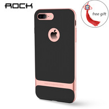 ROCK Slim Case For iPhone 7 Case Full Protective Shell Royce Series Phone Case Hard PC+Soft TPU Cover with Free Chinese Knot(China)